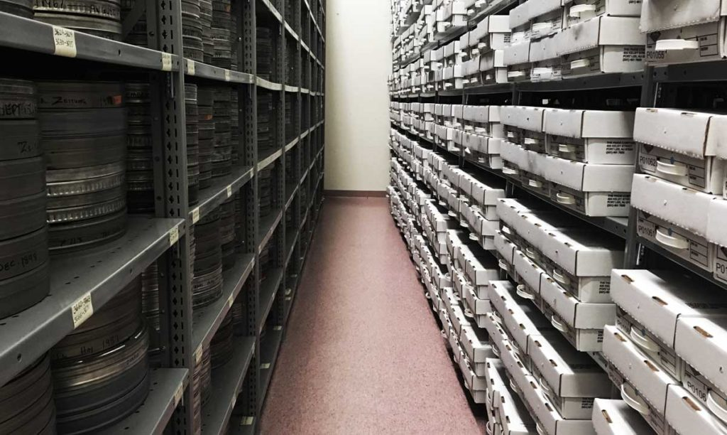 Microfilm Storage at Backstage Library Works in Bethlehem, Pennsylvania