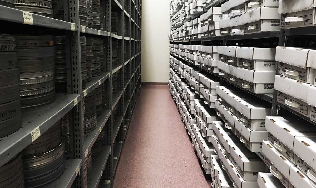 Microfilm Storage with Backstage Library Works