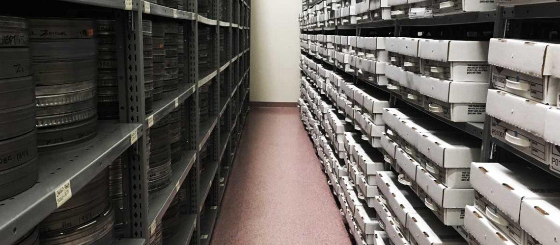 Microfilm Storage at Backstage Library Works in Bethlehem, Pennsylvania
